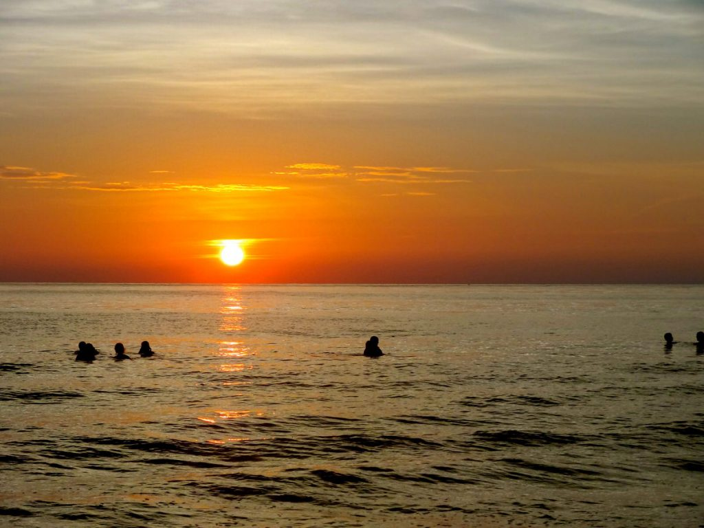 Green Bay visits Naples - after a long day of service, bobbing in the sunset in the Gulf of Mexico