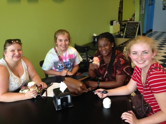 Green Bay visits Naples - ice cream and conversational English with a Christian woman from Haiti