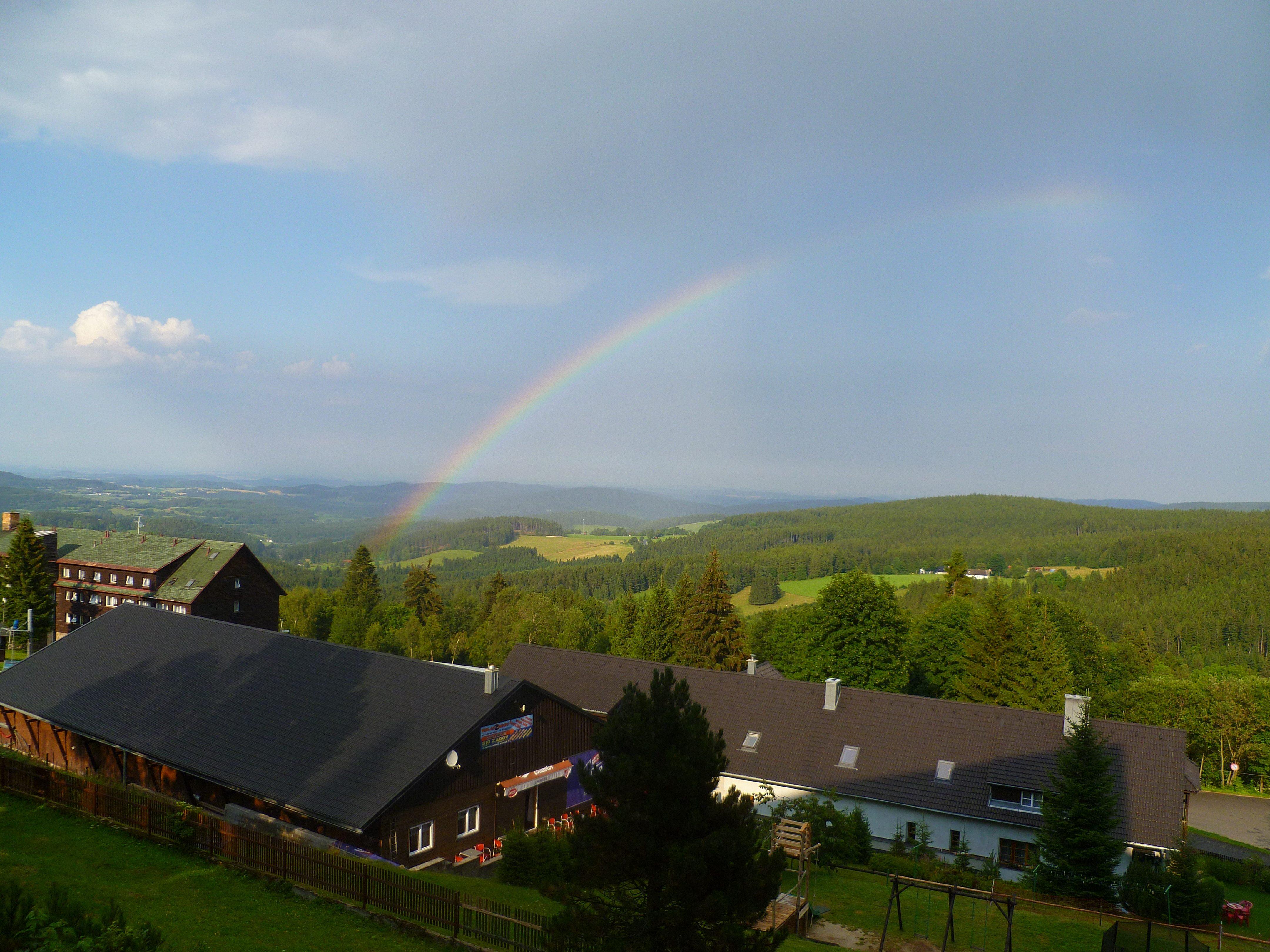 2014 Team Praha photo 8 from Ailalon Church - rainbow in Sumava Mts