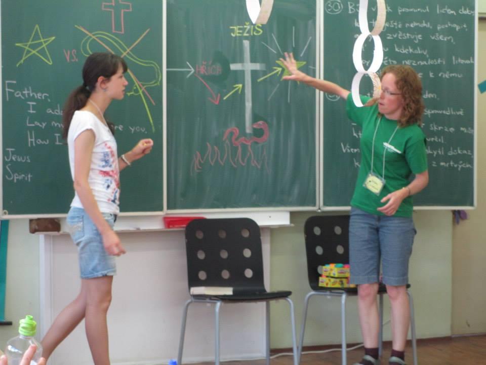 2014 Team Praha - teaching - photo from Jana Crum