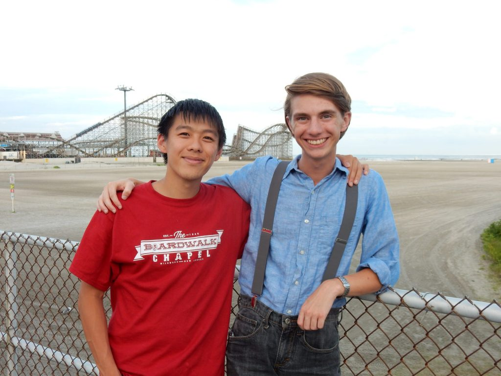 Timothy Hsu and Benjamin Faudree, Boardwalk Chapel 2015, photo by Janet B.