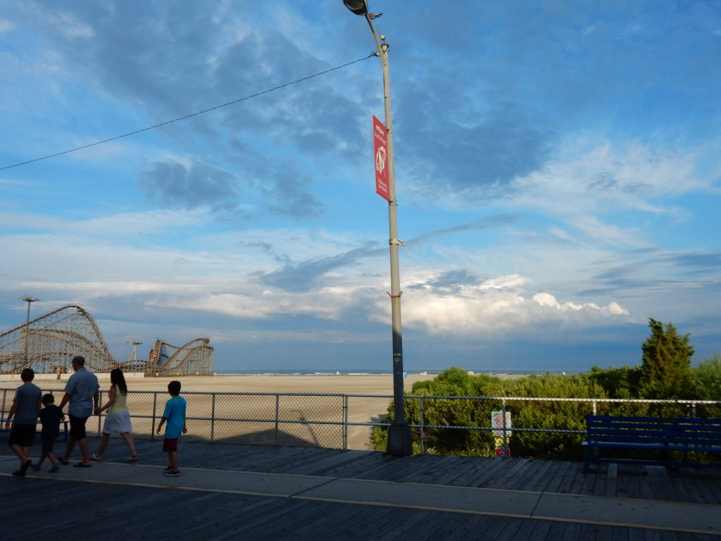 A beautiful evening sky outside the Boardwalk Chapel 2015, photo by Janet B.