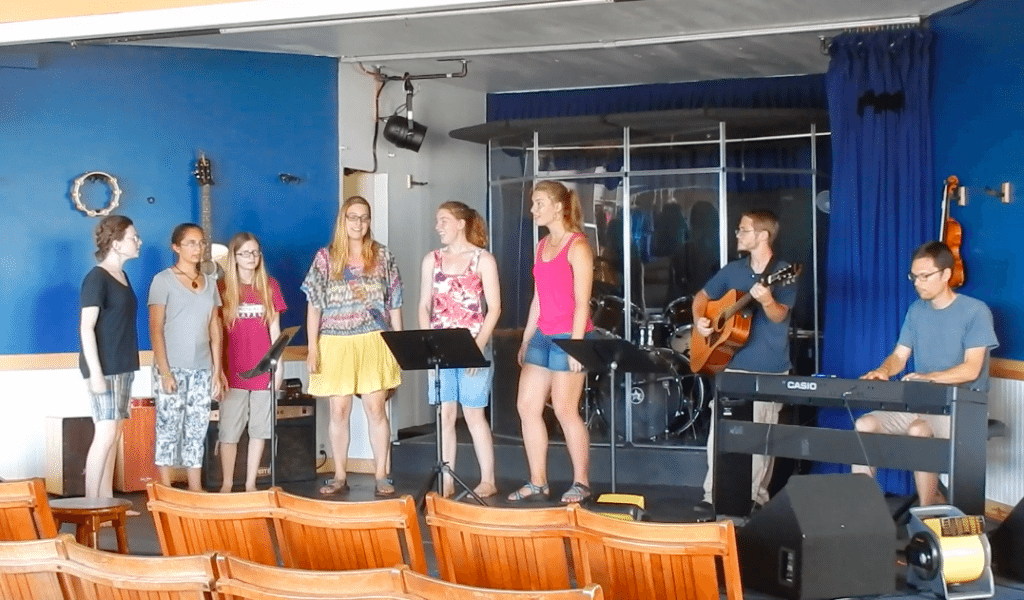 Rehearsal at the Boardwalk Chapel